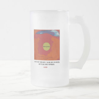 BY MY SPIRIT - IN THE NAME -1118 FROSTED GLASS BEER MUG