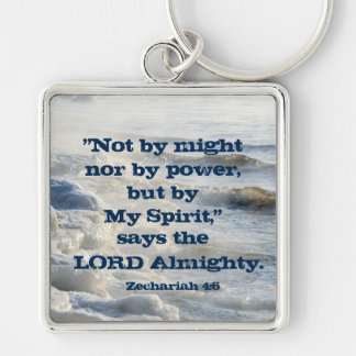 By My Spirit, Scripture Ocean Waves Keychain