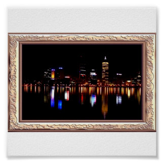 By Night Reflects Print