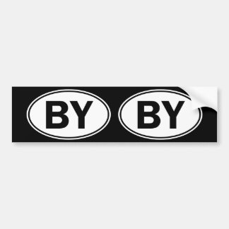 BY Oval ID Bumper Sticker