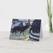 By Paul Gauguin (Best Quality) Holiday Card