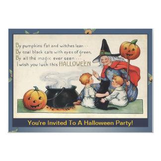 By Pumpkin Fat Vintage Halloween Poem Invitations