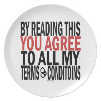 By Reading This You Agree Plates