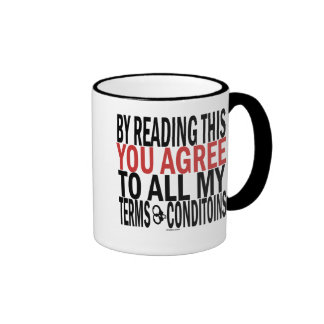By Reading This You Agree Ringer Mug