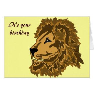 BY- Regal Lion Birthday Card