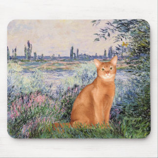 By rhe Seine - Red Abyssinian Mouse Pad