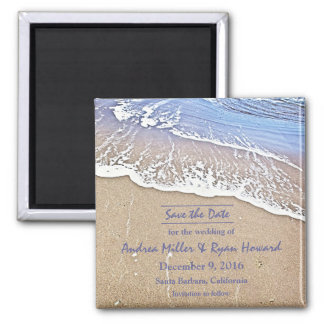 By the Beach Save the Date magnet