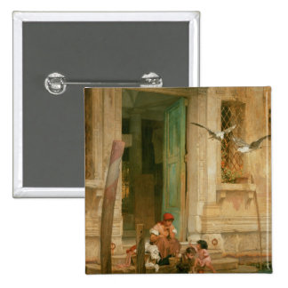 By the Canal, Venice 2 Inch Square Button