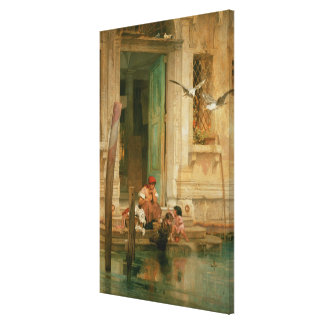 By the Canal, Venice Gallery Wrap Canvas