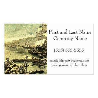 By the Docks Victorian Vintage Illustration Business Card