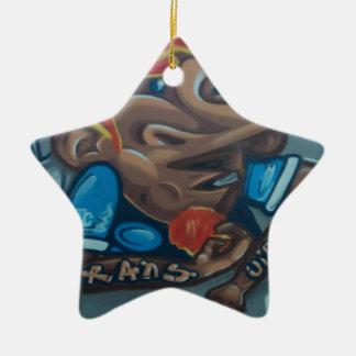 By the face adorno navideño de cerámica en forma de estrella