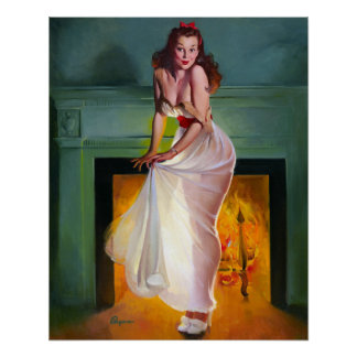 By the Fire Pin Up Print