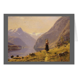 By the Fjord (Norwegian) by Hans Dahl Card