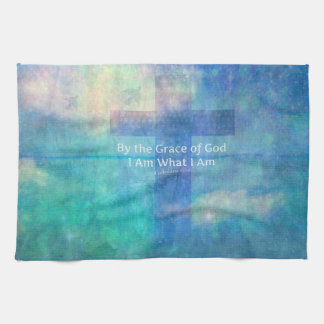 By the grace of God I am what I am - BIBLE VERSE Hand Towels