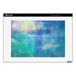 "By the grace of God I am what I am - BIBLE VERSE 15"" Laptop Skin"