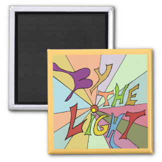 by the light art 2 inch square magnet
