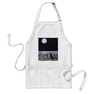 By the Light of the Cat Fish Moon, By the Light... Adult Apron