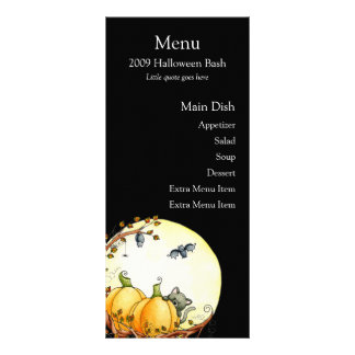 By The Light Of The Moon Menu Card Rack Card Design