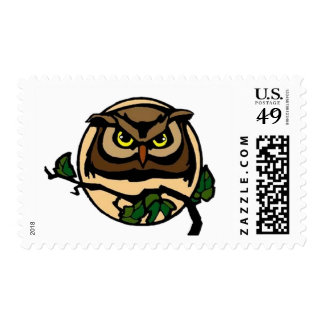 By the Light of the Moon Owl Postage Stamps