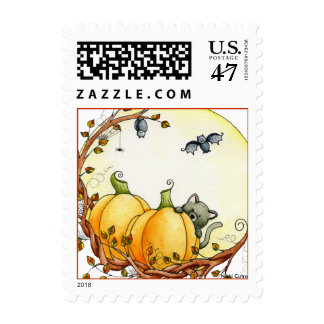 By The Light Of The Moon Postage Stamp
