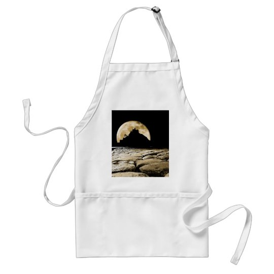 By the light of the sepia moon adult apron