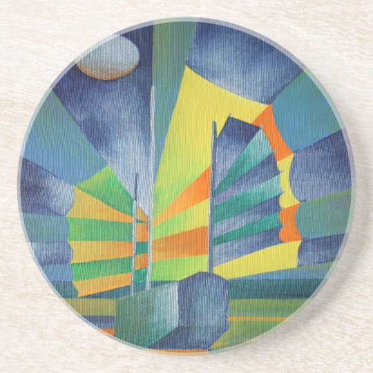 By The Light Of The Silvery Moon Drink Coaster