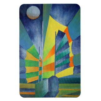 By The Light Of The Silvery Moon Rectangle Magnets