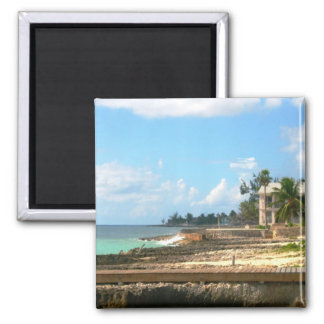By The Ocean 2 Inch Square Magnet