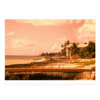 By The Ocean (Peach Tone) Postcard