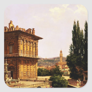 By the Pitti Palace, Florence Square Sticker