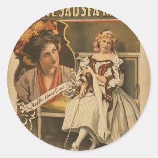 By the Sad Sea Waves, 'Josie De Will' Vintage Thea Sticker