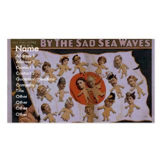 By the Sad Sea Waves, 'The Joyful Japanese Jag' Business Card Template