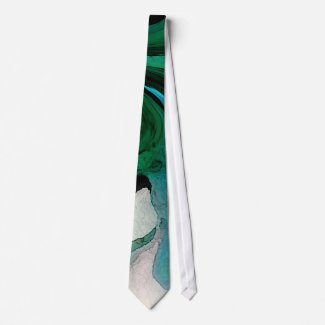BY THE SEA    BEAUTIFUL WATERCOLOR TIE