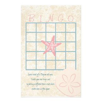 By the Sea Bingo Stationery