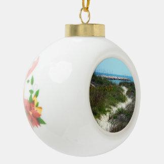 By the Sea Ceramic Ball Christmas Ornament