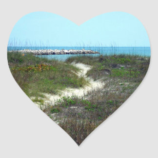By the Sea Heart Sticker
