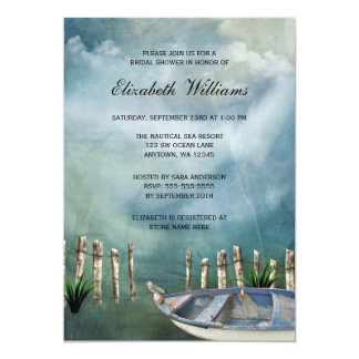 By The Sea Nautical Bridal Shower Card