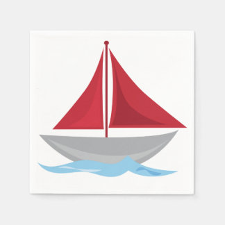 By the Sea Nautical Party Standard Cocktail Napkin