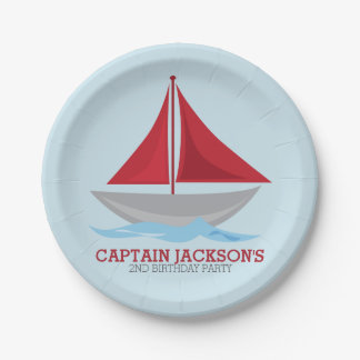 By the Sea Nautical Party 7 Inch Paper Plate