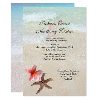 By the Sea Ocean Starfish Wedding Invitations