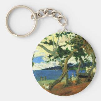 By the sea - Paul Gauguin Keychain