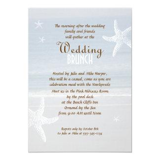 By the Sea Post-Wedding Brunch Invitation
