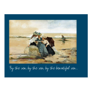 By the sea postcard