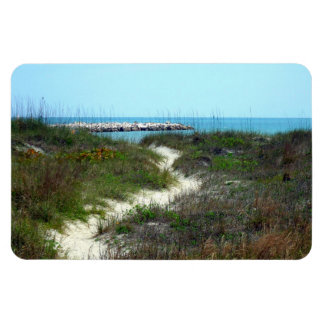 By the Sea Rectangular Photo Magnet