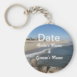 By the Sea Save the Date Key Chain