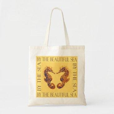 "Beach Themed ""by the sea"" seahorse bag"