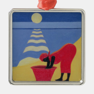 By the Sea Shore 1998 Square Metal Christmas Ornament