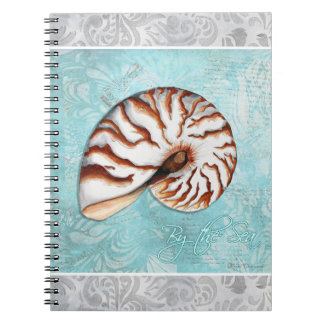 By the Sea Tiger Shell Notebook