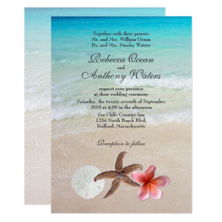 by the sea tropical destination wedding invites - Destination Wedding Invites
