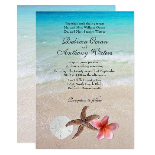 Beach Wedding Announcement Cards